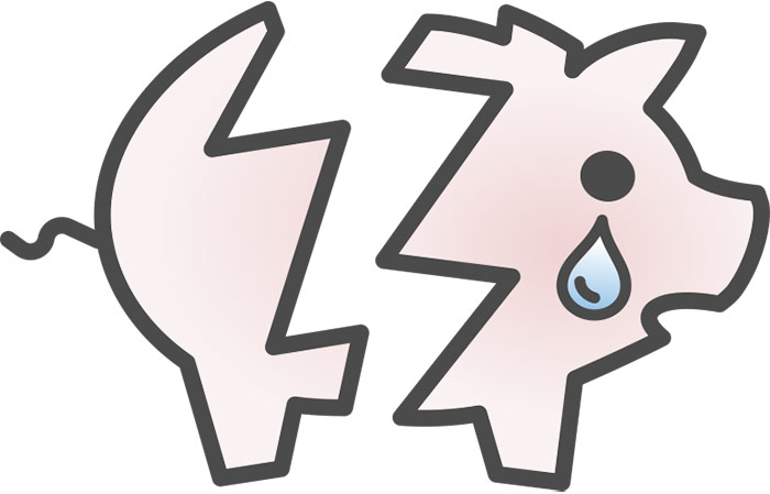 Broken Piggy Bank Icon