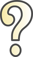 Question Mark Icon With Warm Yellow Gradient In Center